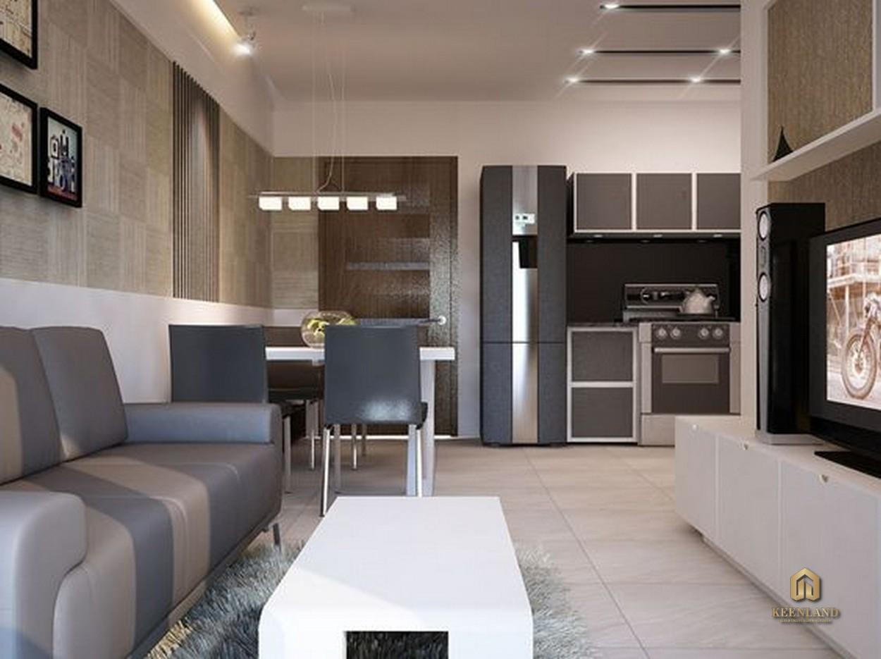 Phòng khách căn hộ Carillon 3