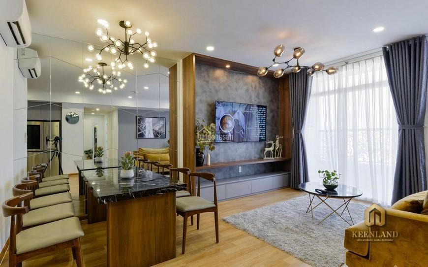 Phòng khách liên nhà bếp căn hộ căn hộ 155 Nguyễn Chí Thanh