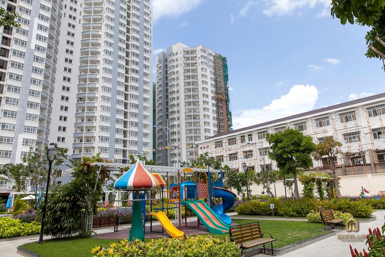 Hình ảnh thực tế khu vui chơi chung cư Him Lam Riverside