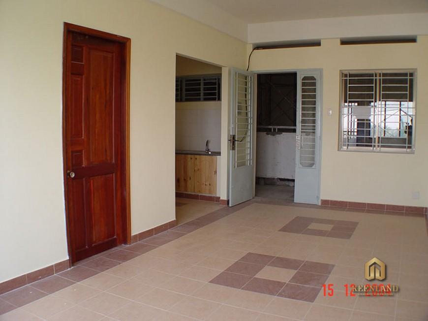 Hành lang tại tầng chung cư Khánh Hội 1
