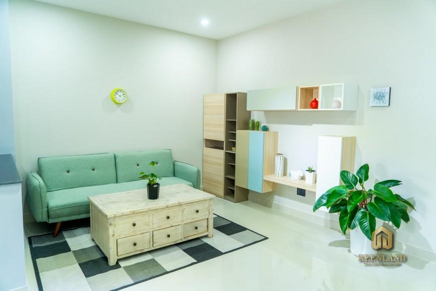 Phòng khách căn hộ Khánh Hội 1