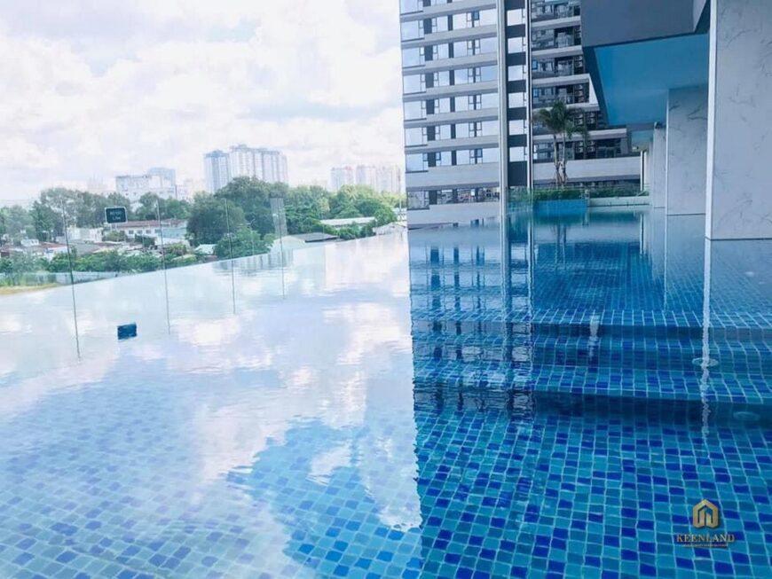 Hồ bơi nội khu chung cư Nguyễn Kim