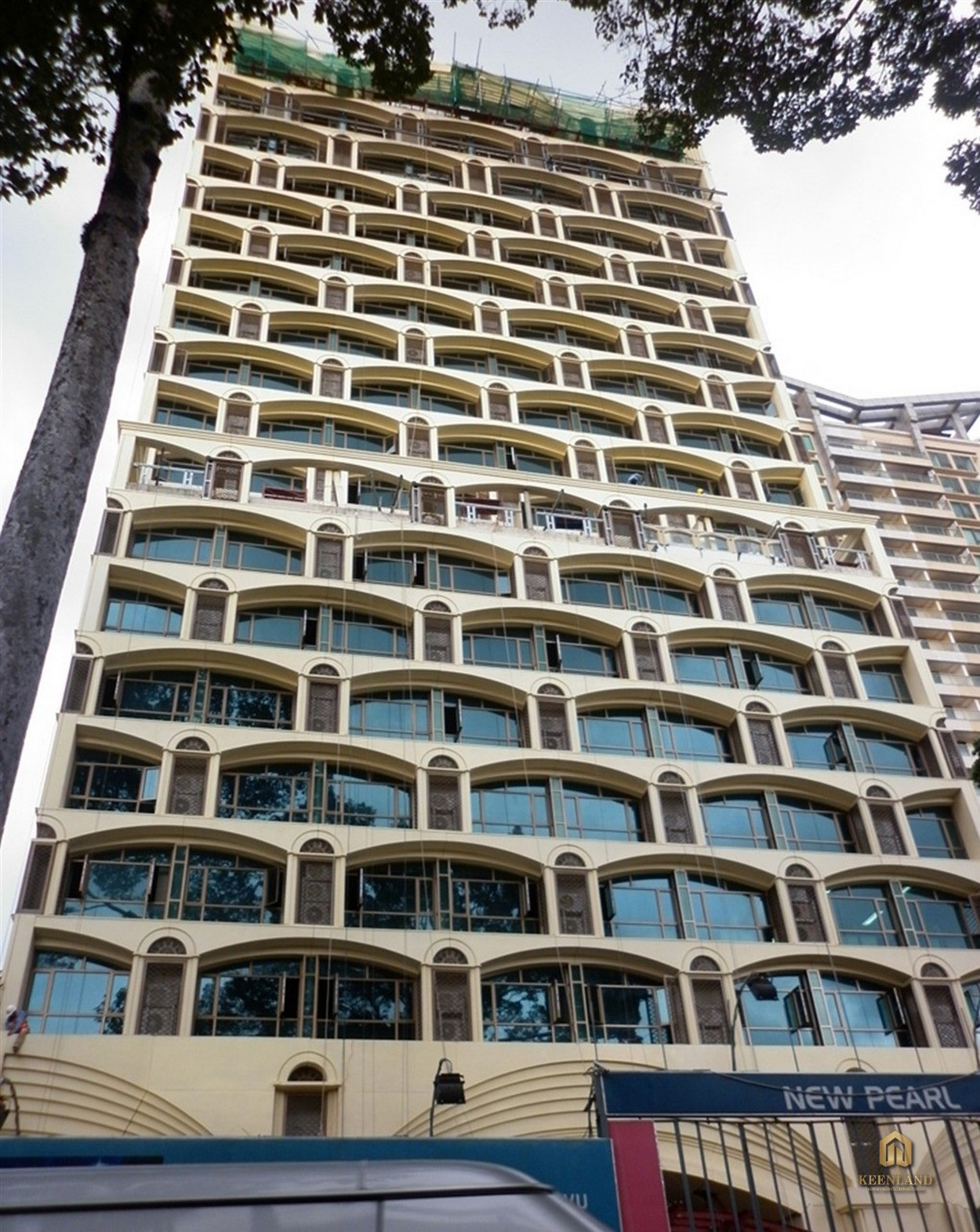 Cận cảnh mặt tiền New Pearl Residence