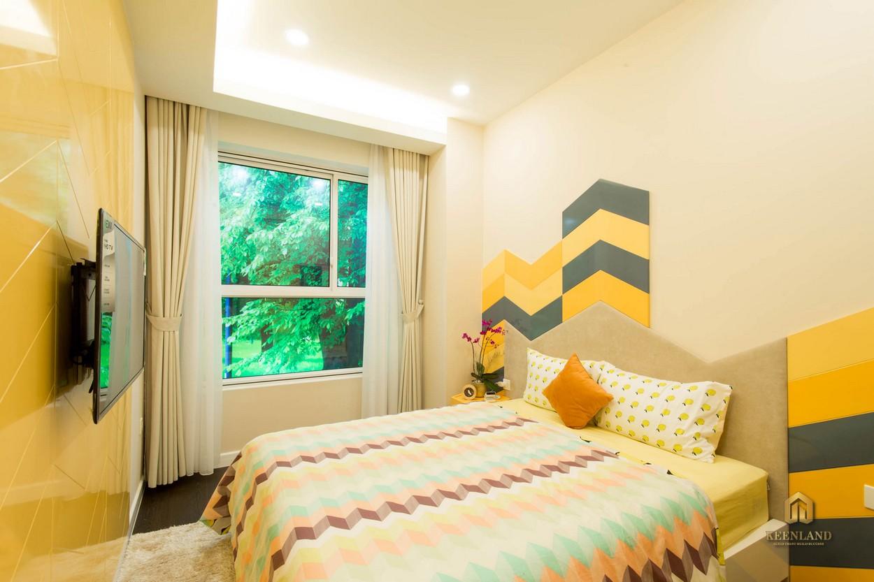 Phòng ngủ căn hộ Orient Apartment