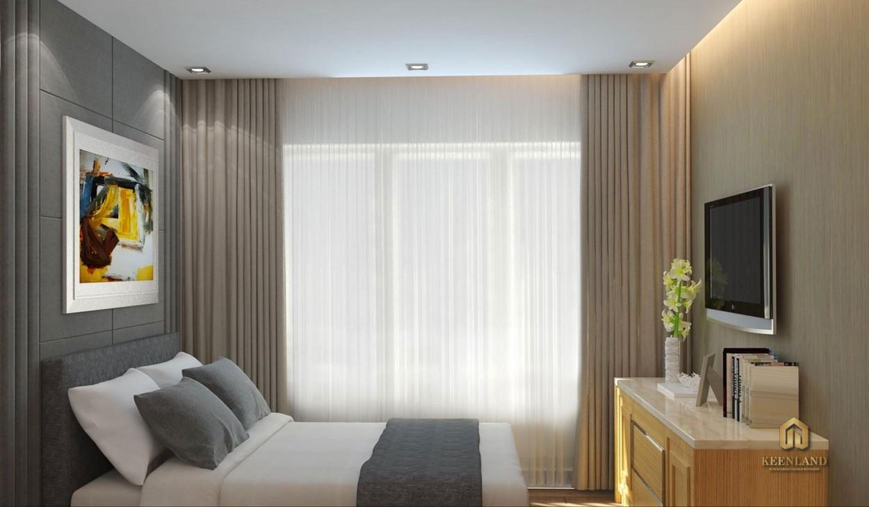 Phòng ngủ thực tế căn hộ Palacio Garden Tân Bình