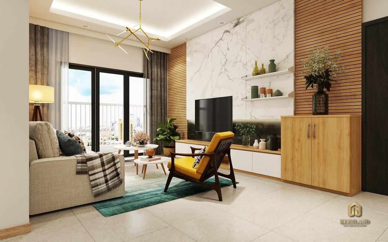 Phòng khách căn hộ Park Legend Tân Bình