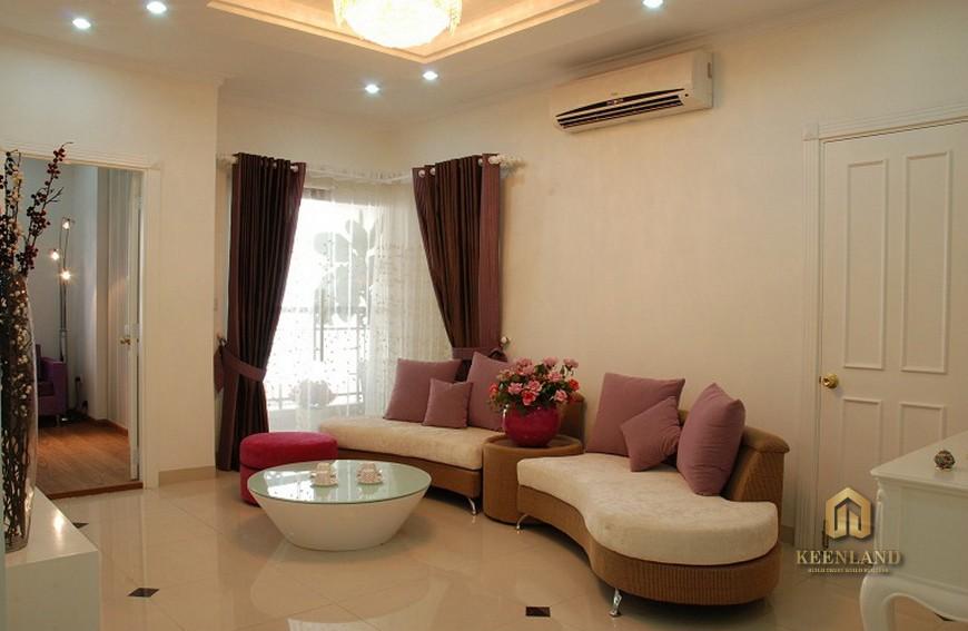 Phòng khách căn hộ Ruby Garden