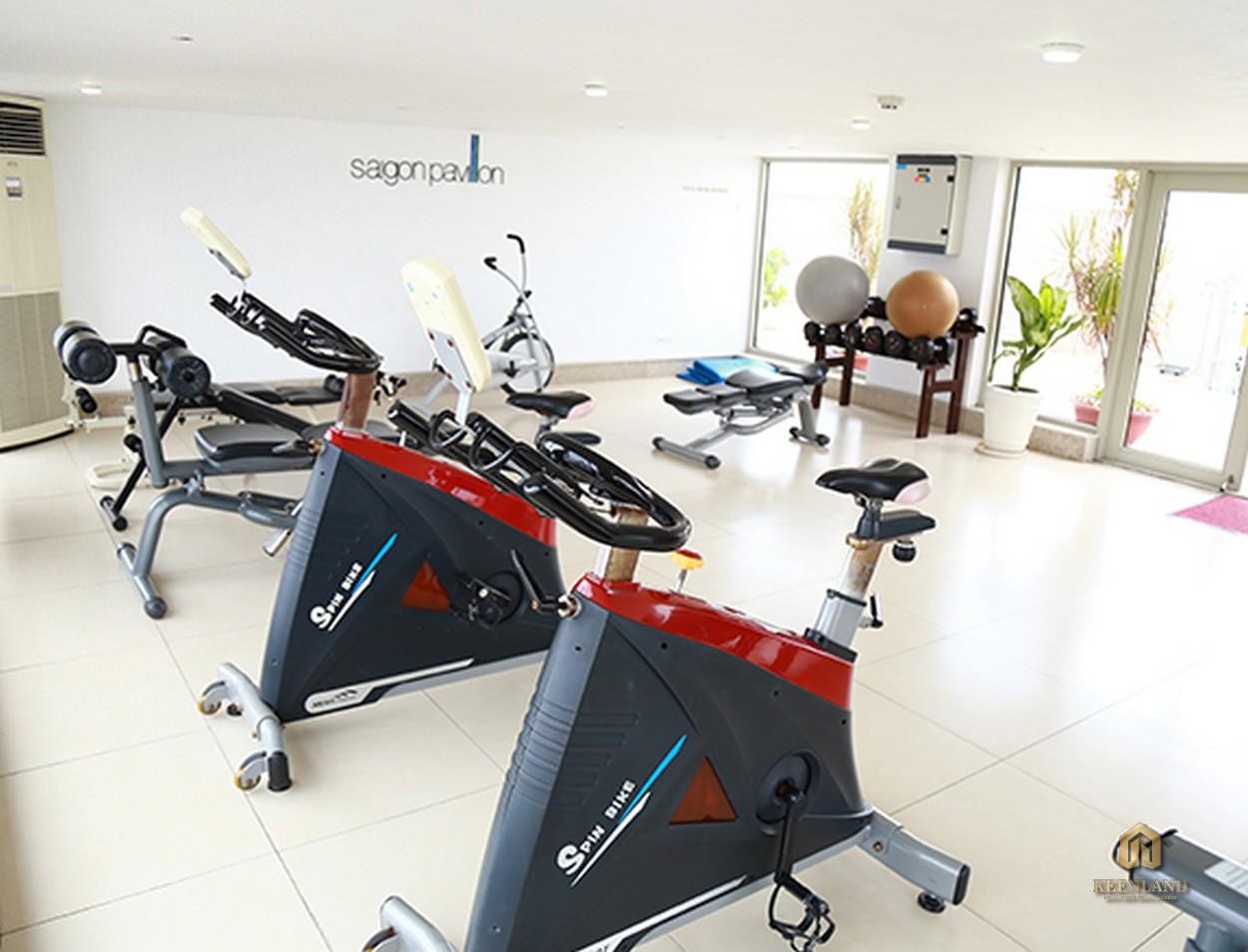 Phòng tập gym tại chung cư  Saigon Pavillon