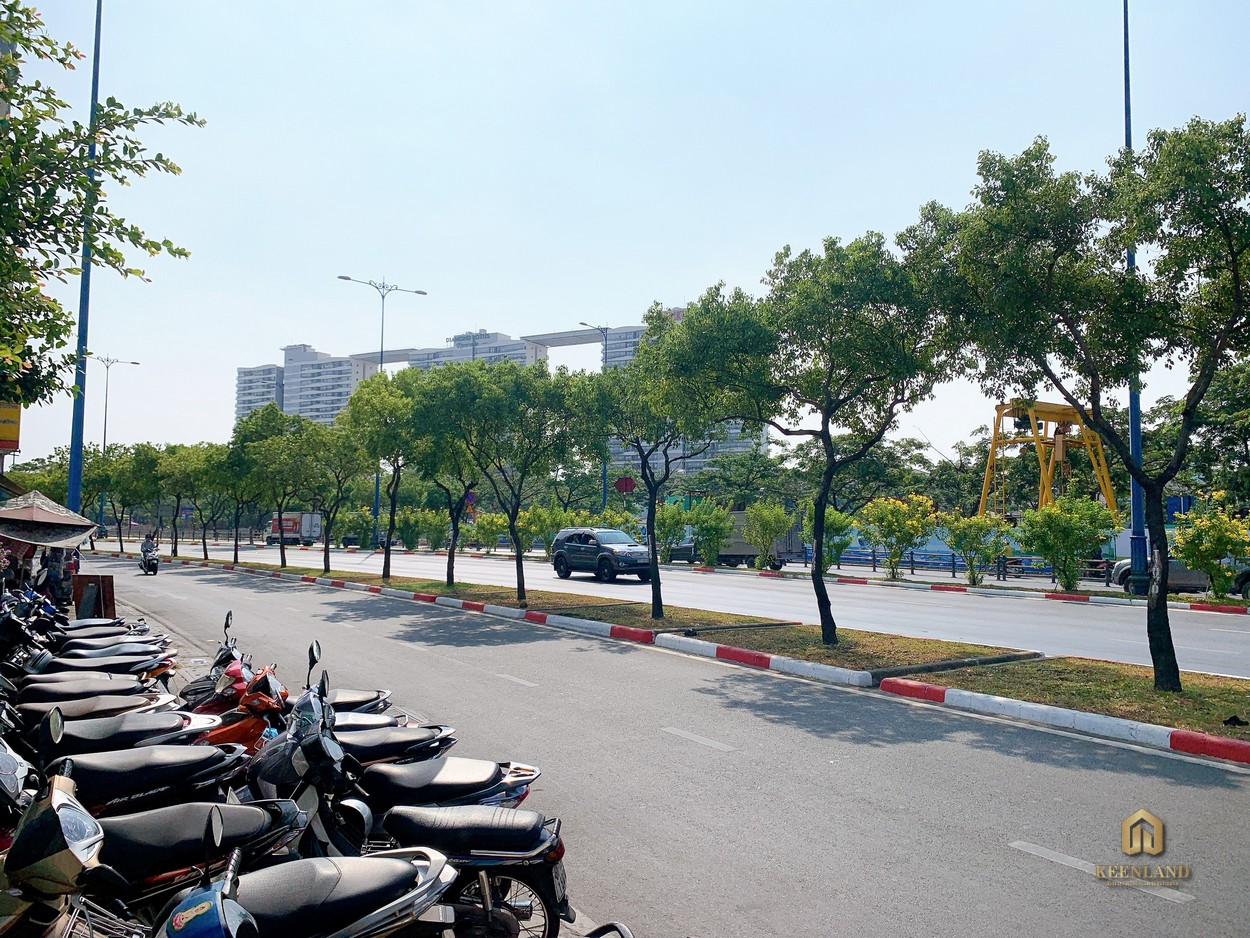 Đường nội bộ phía trước dự án  Tam Đức Plaza