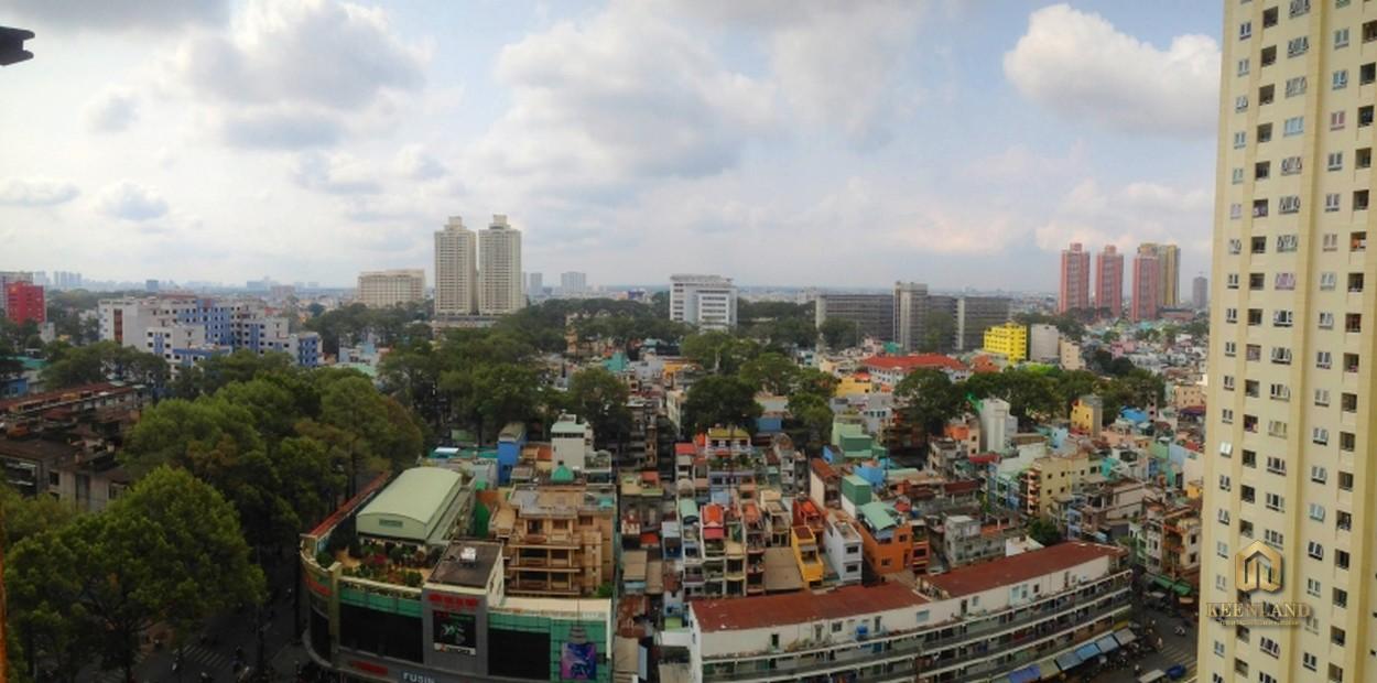 View nhìn từ căn hộ  Tân Phước Plaza