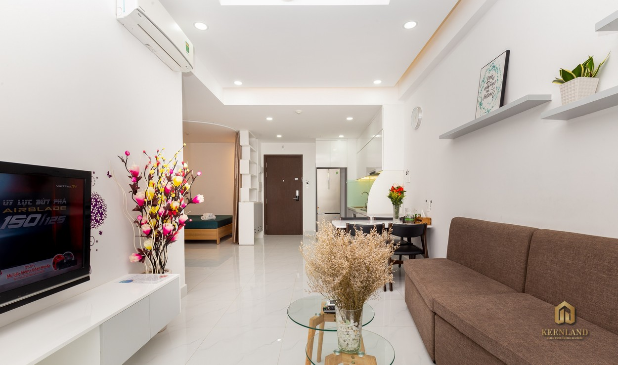 Phòng khách căn hộ The Botanica