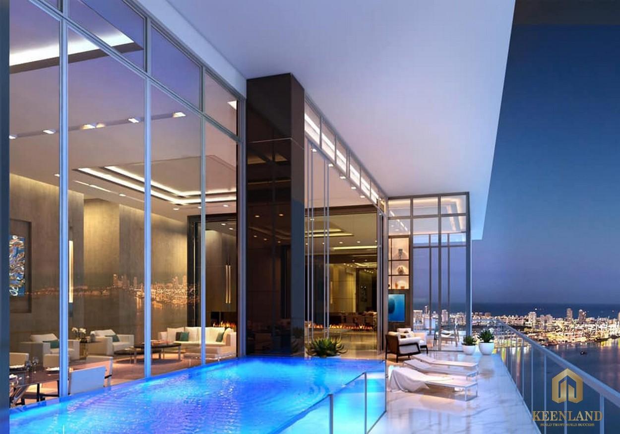 Thiết kế hồ bơi riêng tại dự án căn hộ cao cấp Define Quận 2