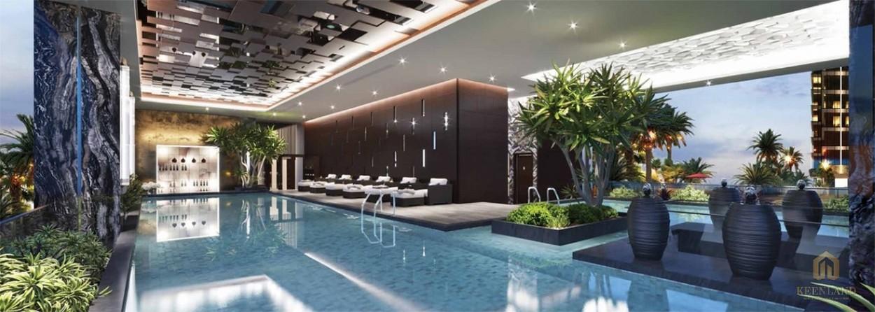 Hồ bơi tiện ích dự án Sunshine Tower quận 1 - Khu vườn nội khu dự án Sunshine Tower