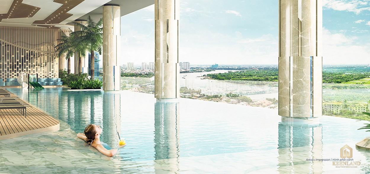 Hồ bơi tiện ích tại dự án cao cấp Q2 Thảo Điền