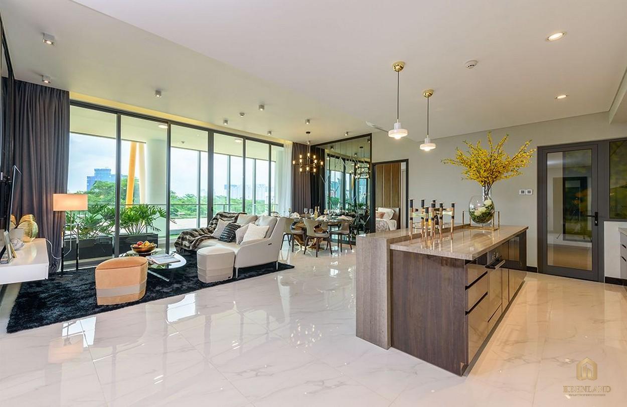Phòng khách nhà mẫu dự án căn hộ Empire City
