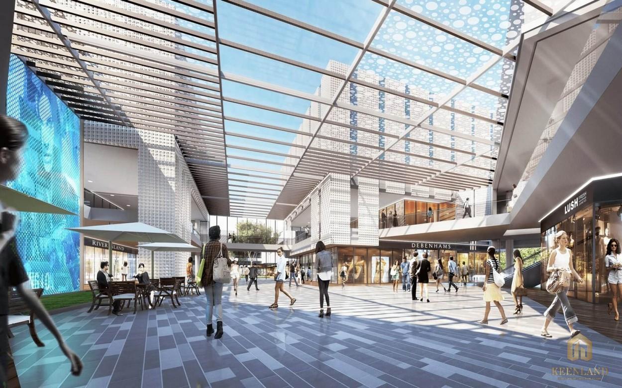 Khu thương mại tại dự án SaiGon Sports City quận 2