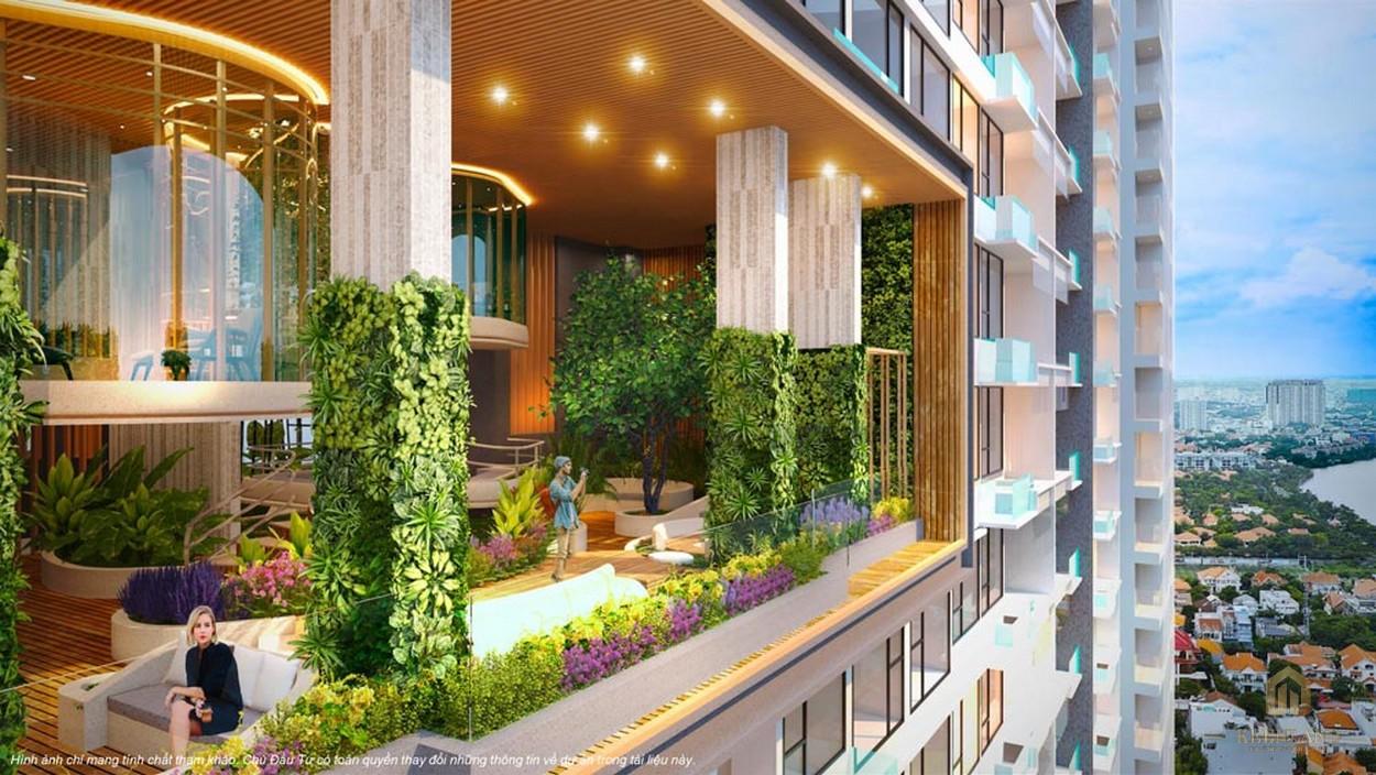 Khuôn viên tầng 12 căn hộ Q2 Thảo Điền