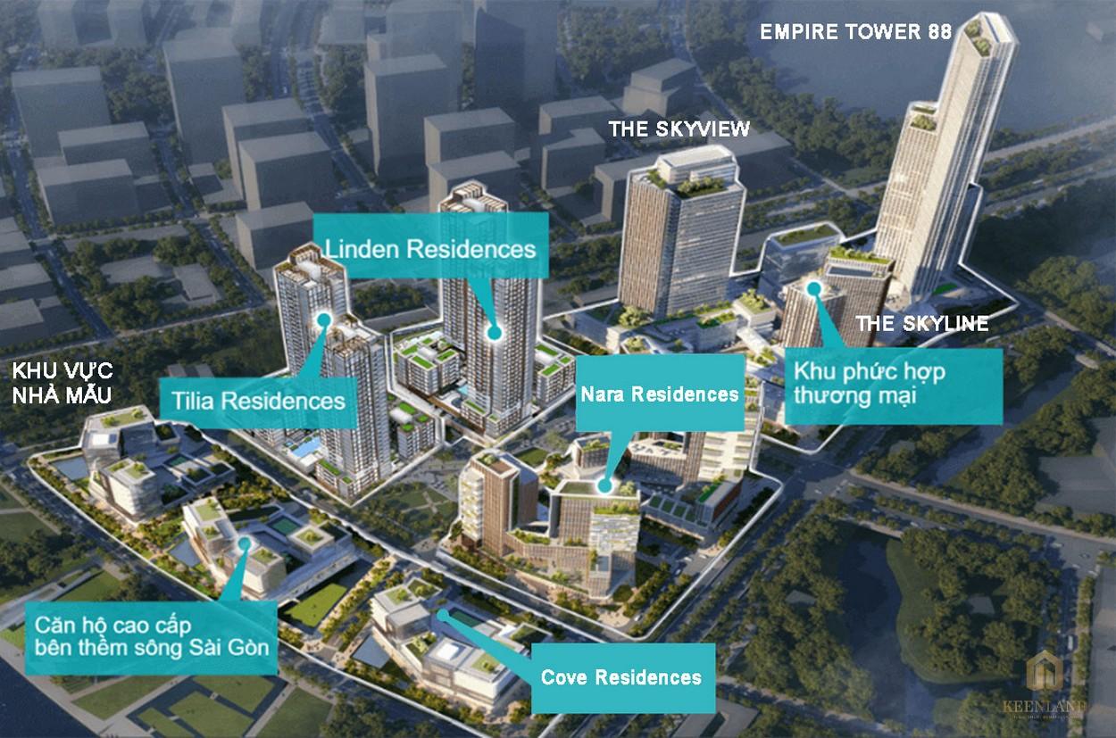 Mặt bằng tổng thể dự án căn hộ Empire City Quận 2