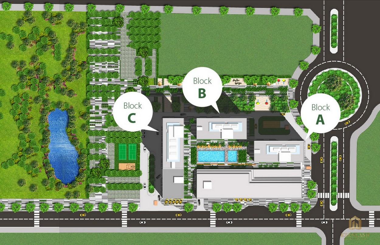 Mặt bằng tổng thể dự án căn hộ chung cư Citisoho Quận 2