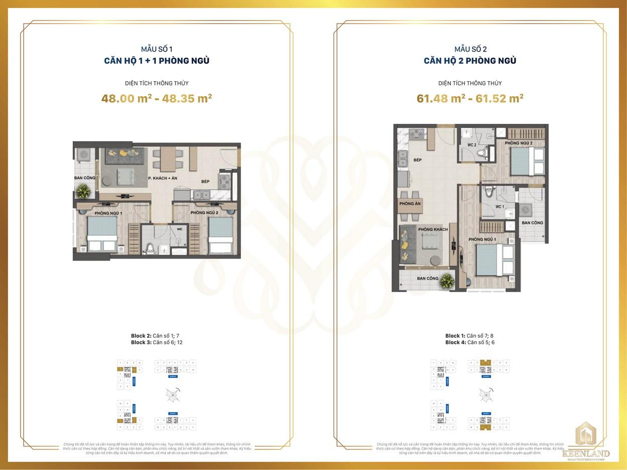 Thiết kế chi tiết căn hộ mẫu 1-2 dự án Victoria Village Q2
