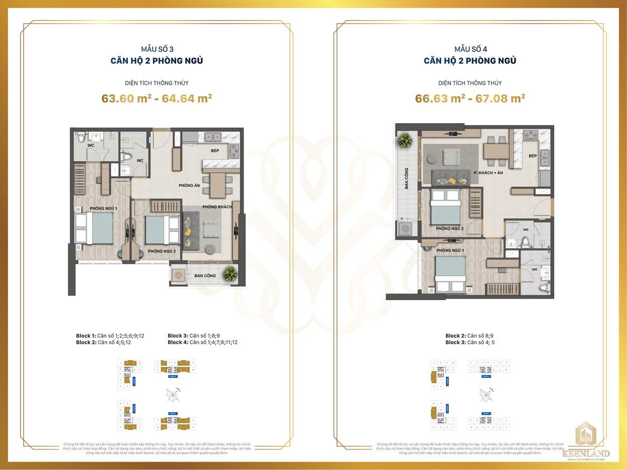 Thiết kế chi tiết căn hộ mẫu 3-4 dự án Victoria Village Q2
