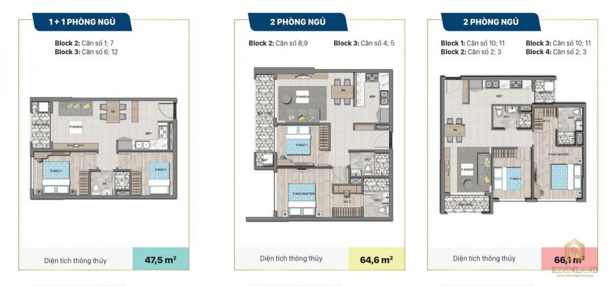 Mặt bằng chi tiết căn hộ dự án Victoria Village quận 2