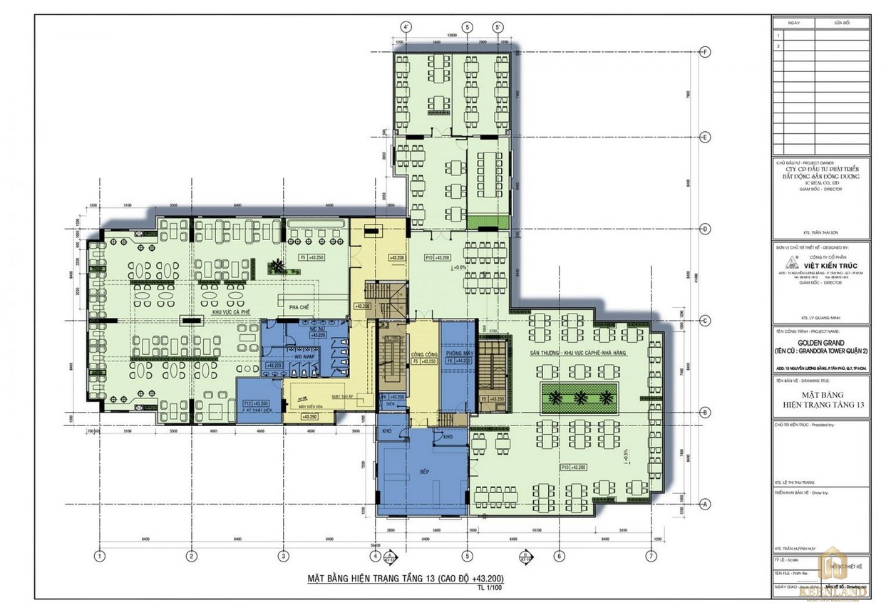 Mặt bằng tầng 13 dự án căn hộ Golden Grand quận 2