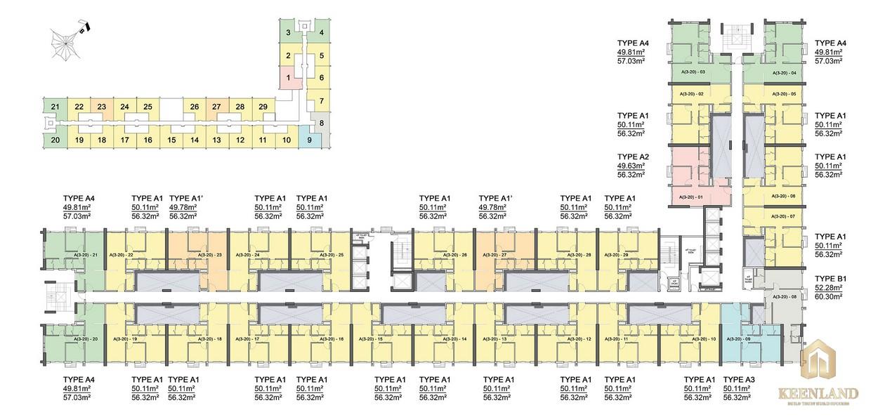 Mặt bằng tầng điển hình dự án căn hộ Citi Grand Quận 2