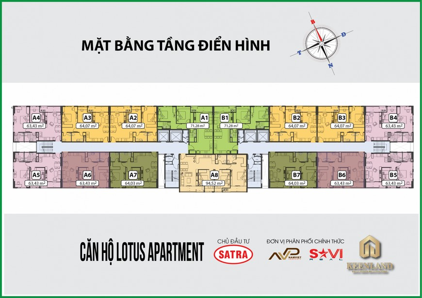 Mặt bằng tầng điển hình Lotus Apartment