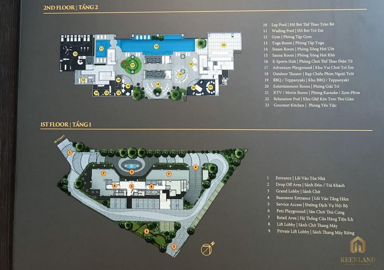 Mặt bằng tầng tiện ích dự án Mozac Thảo Điền