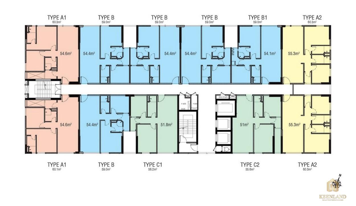 Mặt bằng tầng dự án căn hộ chung cư Citisoho Quận 2