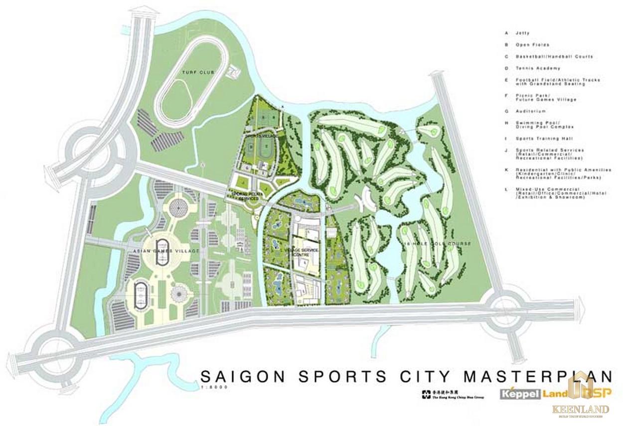Mặt bằng tổng thể dự án căn hộ SaiGon Sports City Quận 2