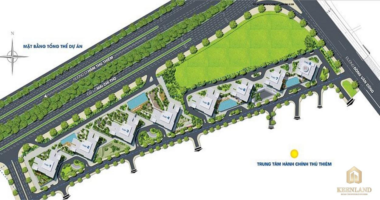 Mặt bằng tổng thể dự án căn hộ Water Bay