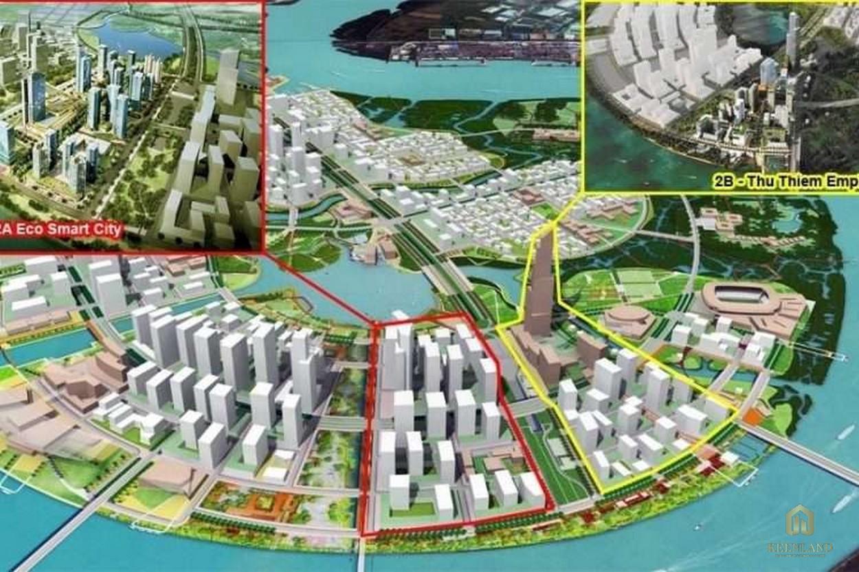 Mặt bằng quy hoạch tổng thể khu phức hợp Eco Smart City Thủ Thiêm