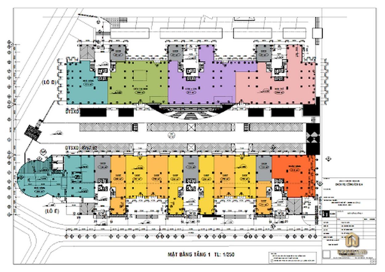 Mặt bằng tầng điển hình dự án Belleza Apartment