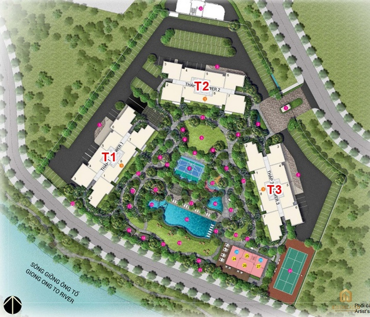 Mặt bằng tổng thể dự án căn hộ chung cư Palm Heights