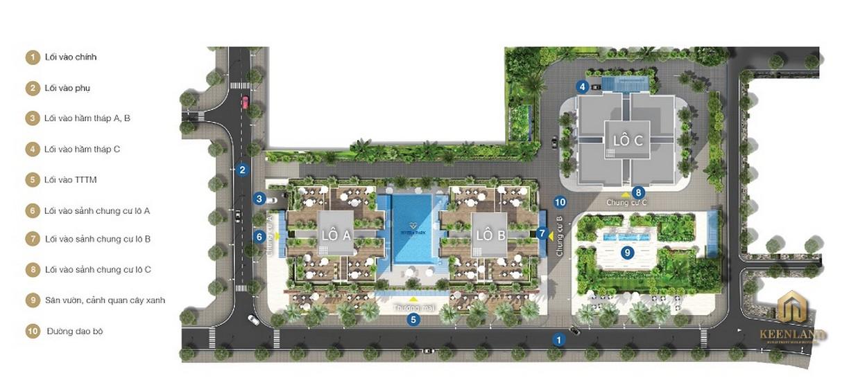 Mặt bằng tổng thể dự án  Rivera Park