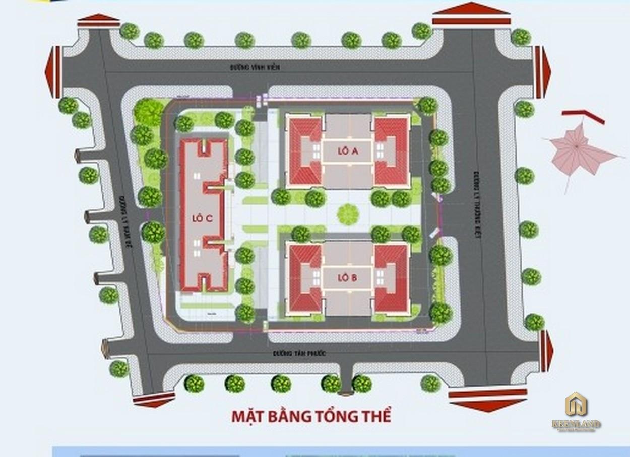 Mặt bằng tổng thể dự án Tân Phước Plaza
