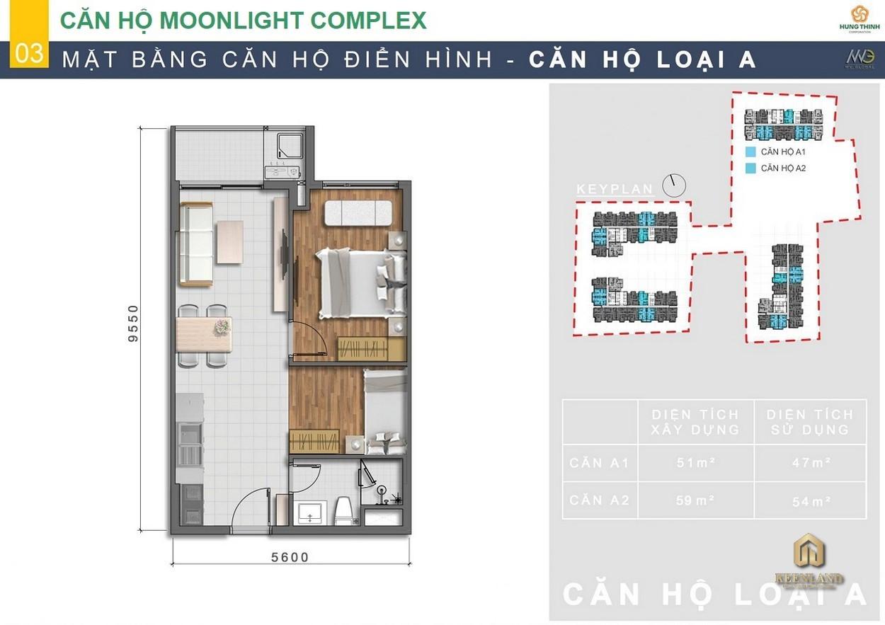 Thiết kế chi tiết căn hộ Moonlight Centre Point Bình Tân loại A