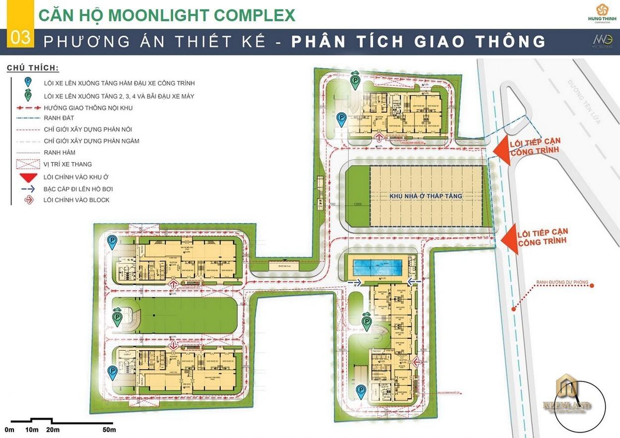 Mặt bằng tầng trệt dự án Moonlight Centre Point Bình Tân