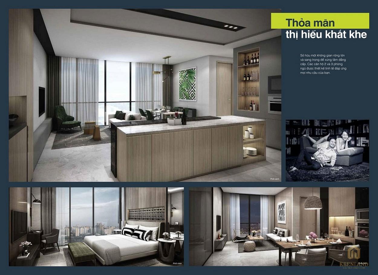 Phòng ngủ nhà mẫu dự án căn hộ Empire City
