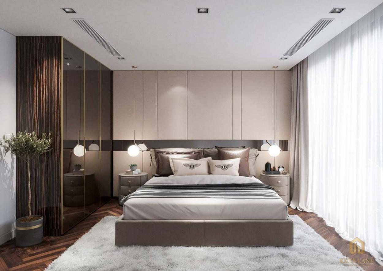 Phòng ngủ dự án căn hộ chung cư Saigon Sport City quận 2