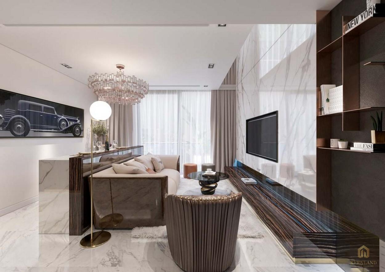 Phòng khách dự án căn hộ chung cư Sunshine Tower quận 1