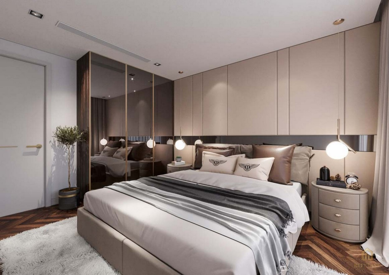 Phòng ngủ dự án căn hộ chung cư Sunshine Tower quận 1