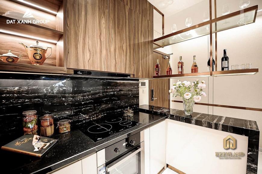Nhà mẫu dự án Opal Cityview - Căn hộ 3PN với không gian bếp ấm cúng