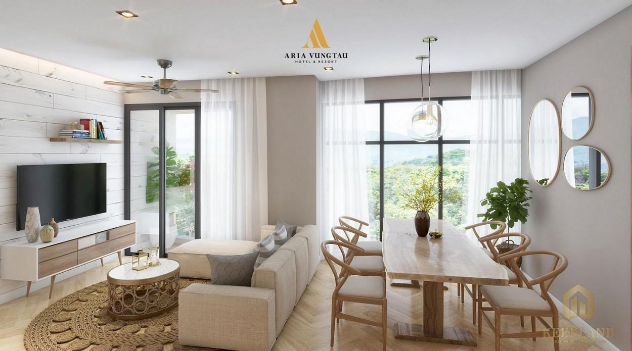 Phòng ăn nhà mẫu dự án Condotel Aria Vũng Tàu