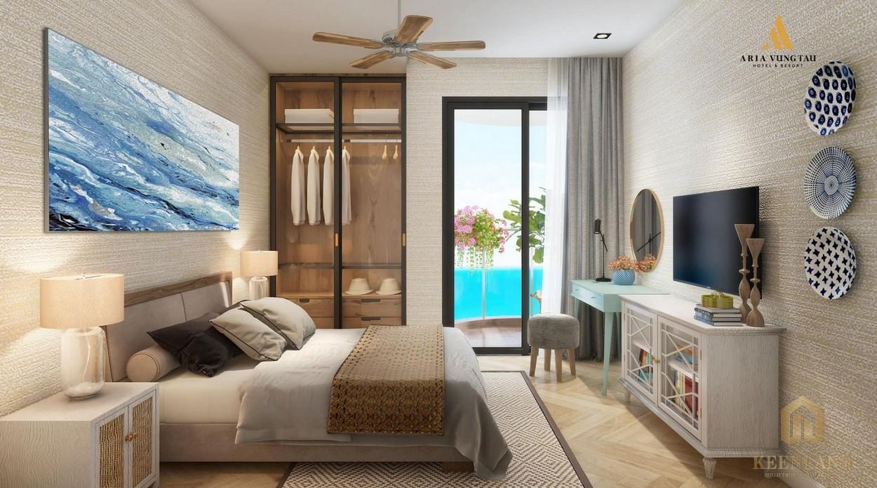 Phòng ngủ nhà mẫu dự án Condotel Aria Vũng Tàu