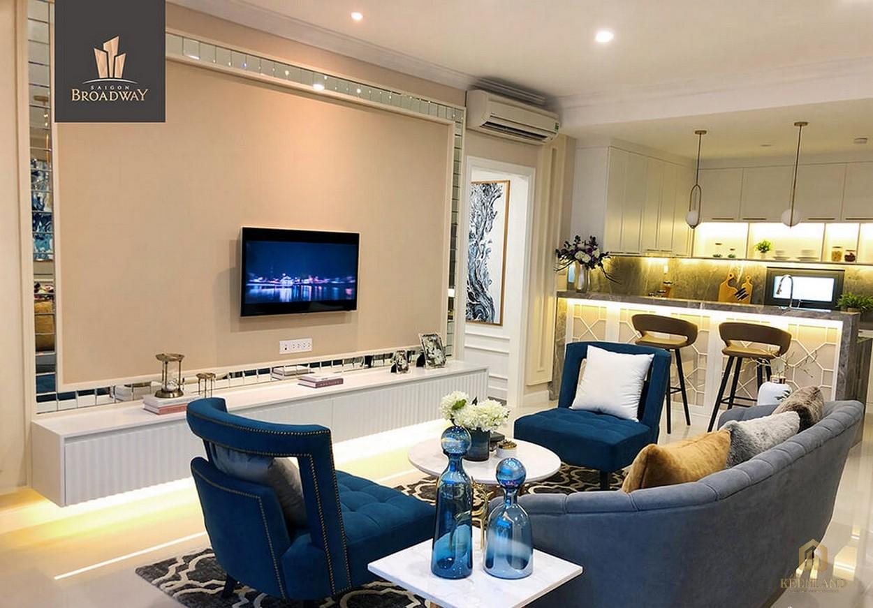 Trang trí nội thất căn hộ cao cấp Saigon Broadway