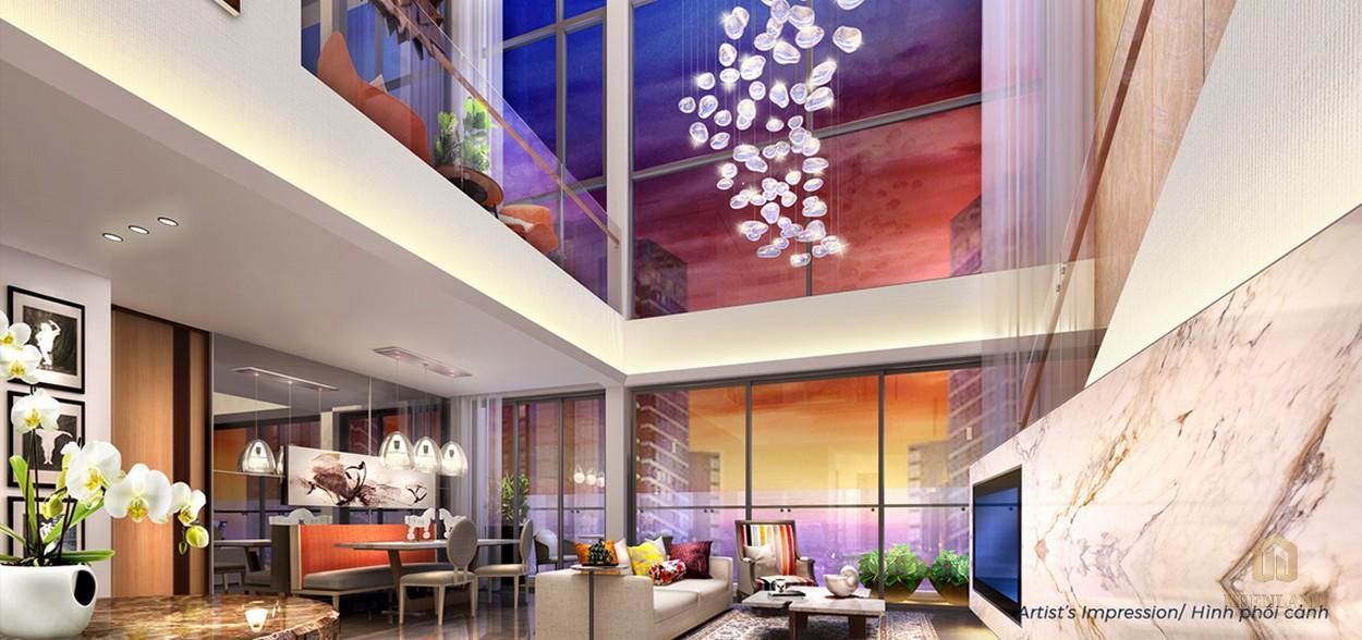 Nhà mẫu căn hộ duplex dự án căn hộ Q2 Thảo Điền