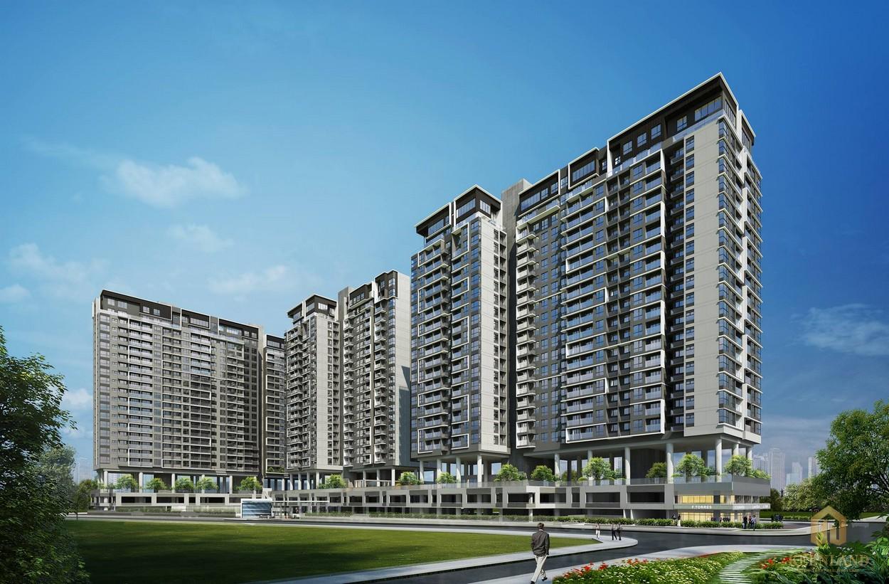 Phối cảnh tổng thể dự án căn hộ One Verandah quận 2